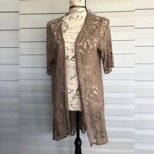 NWT lace see through kimono